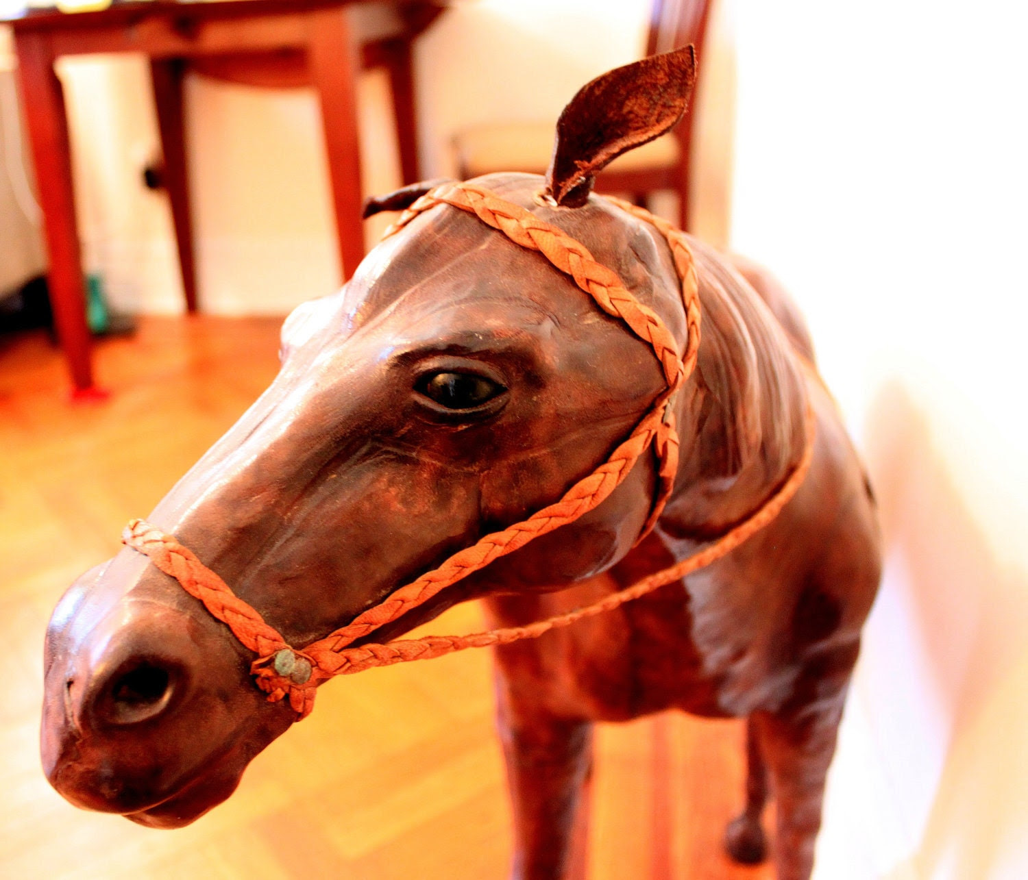 British Equestrian Leather Horse Sculpture by Fivehands
