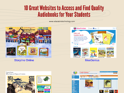 10 Great Places to Find and Access Quality  Audiobooks to Use with Your Students