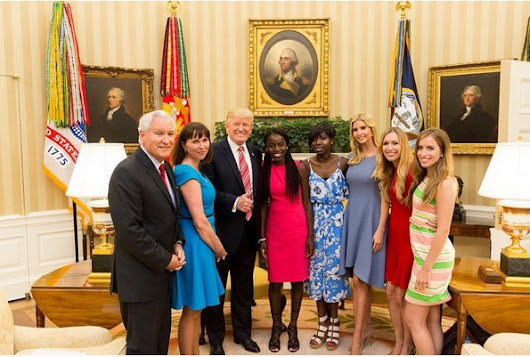 Donald Trump and Daughter hosts Abducted Chibok girls in Oval Office