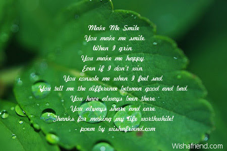 Make Me Smile Poem For Friends