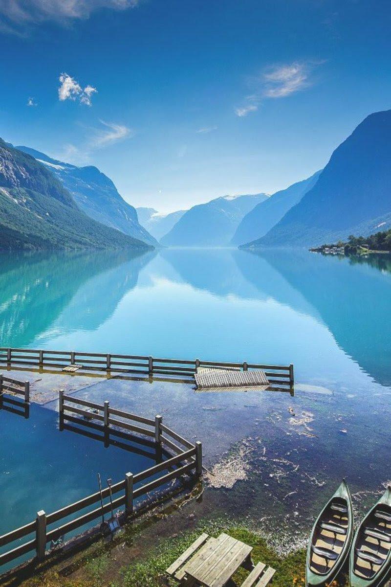 Paysage Lac En Montagne Fond écran