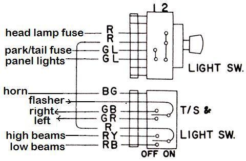 Tech Wiki Lamp Wiring Datsun 1200 Club
