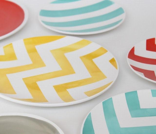 2011 Spring Aedriel Originals Dinnerware Collection-  Set of Four Tapas Plates