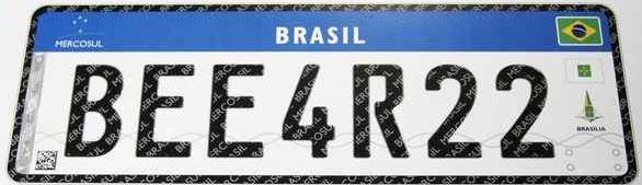 Brasil adotar a placa do MERCOSUL em 2017