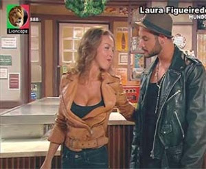 Laura Figueiredo sensual na novela Mundo ao contrário