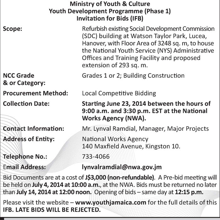 Ministry of Youth and Culture  Jamaica Information Service