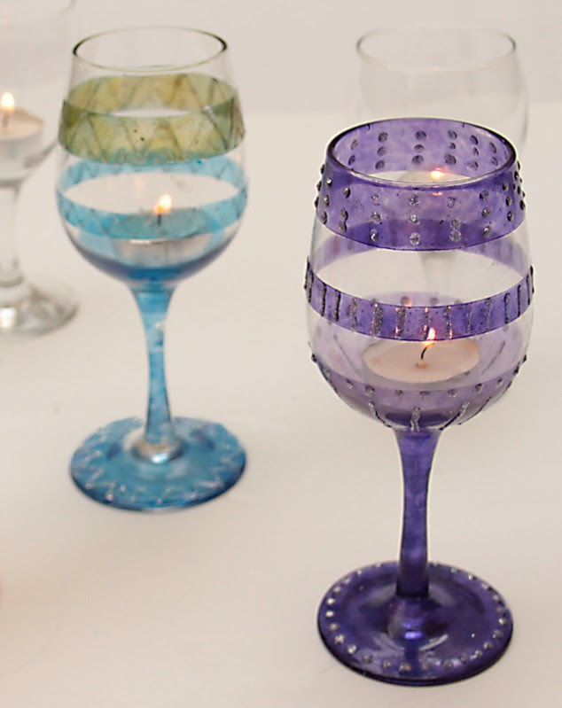Spice Up Wine Glasses To Parties Diy Wine Glasses Projects Pretty