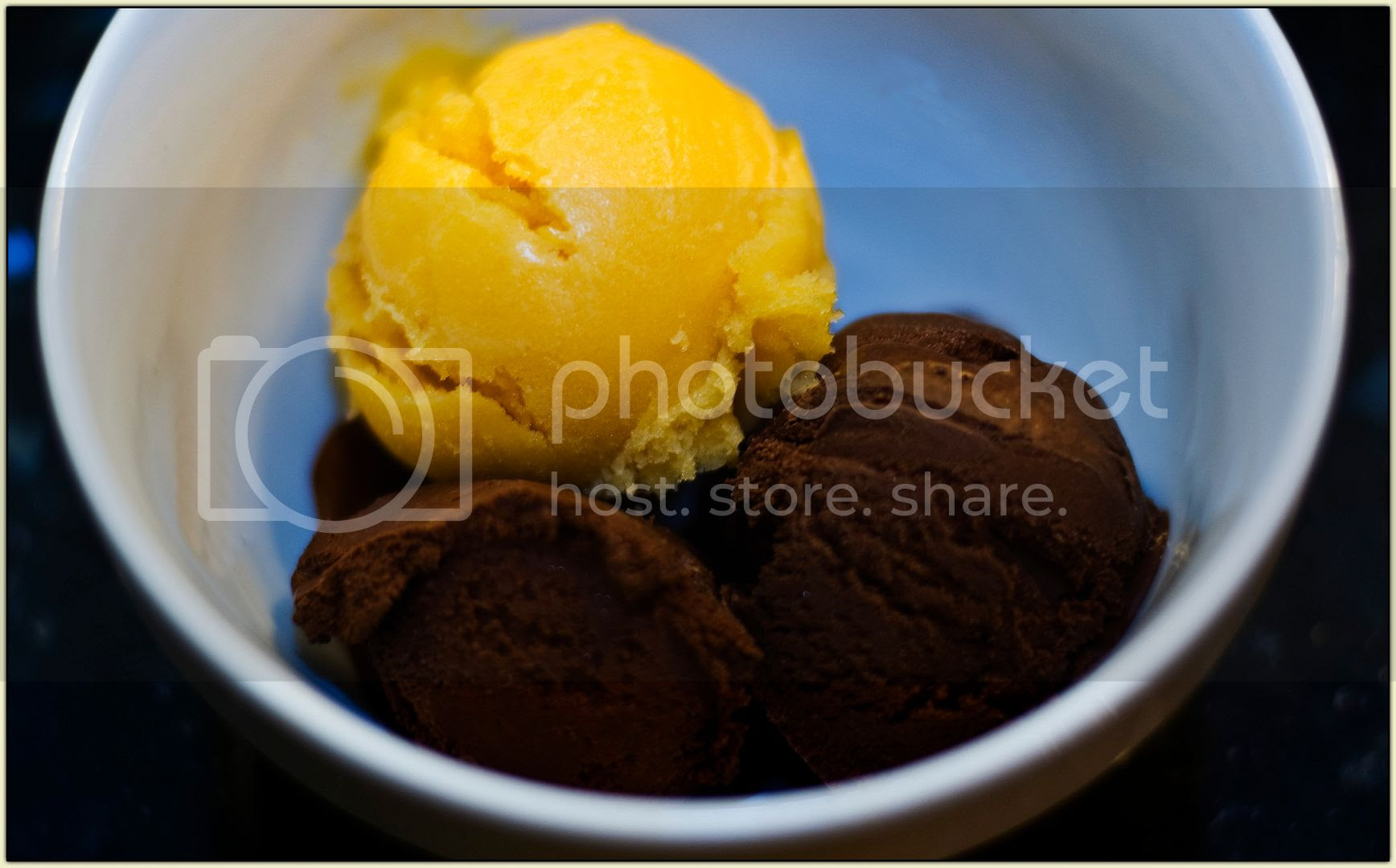 Apricot and Chocolate Sorbets