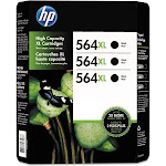 HP 564XL Tri Pack Black Ink Cartridge EXP 12/2016