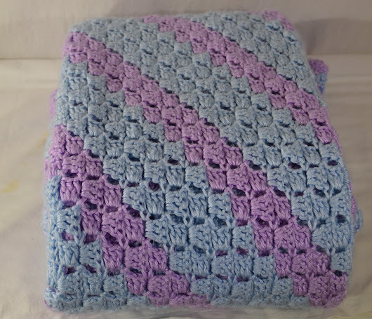 C2C Soft Blanket Seft Blue/Orchid Rectangle