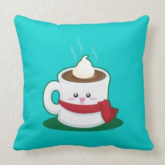 Hot Chocolate Throw Pillows
