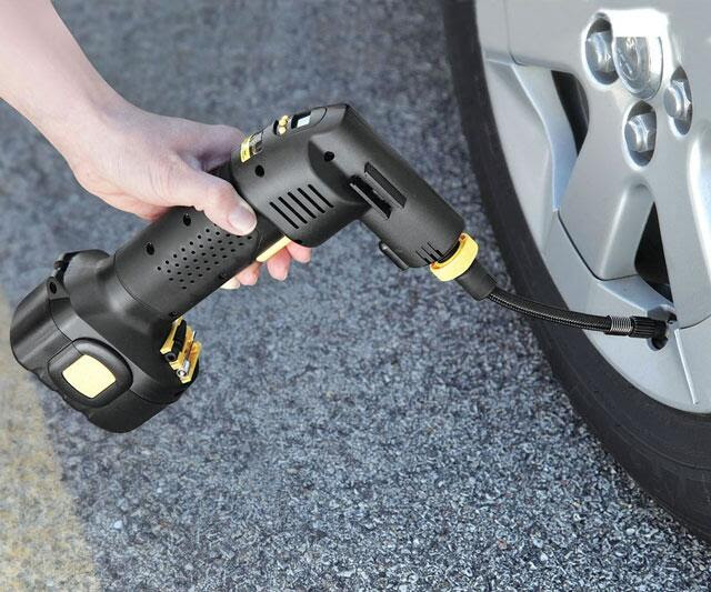 Automatic Cordless Tire Inflator Dudeiwantthat Com