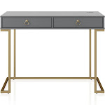 Camila Writing Desk, Graphite Gray