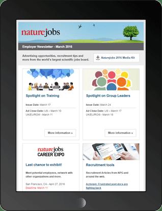 Naturejobs Employer Newsletter