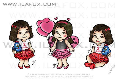 caricatura fofinha, Joaninha, Galinha Pintadinha, Jujuaninha, by ila fox