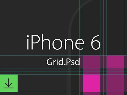 iPhone 6 grid template Free PSD File Download
