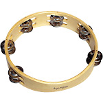 Tycoon Percussion Round Wooden Tambourine-TBW