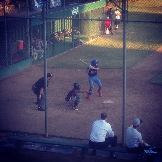 At bat against Laguna Creek, Jack singled, drove in a run and then came around to score