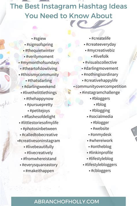THE BEST INSTAGRAM HASHTAG IDEAS YOU NEED TO KNOW ABOUT