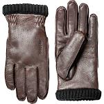 Hestra Deerskin Primaloft Rib Gloves - Dark Brown