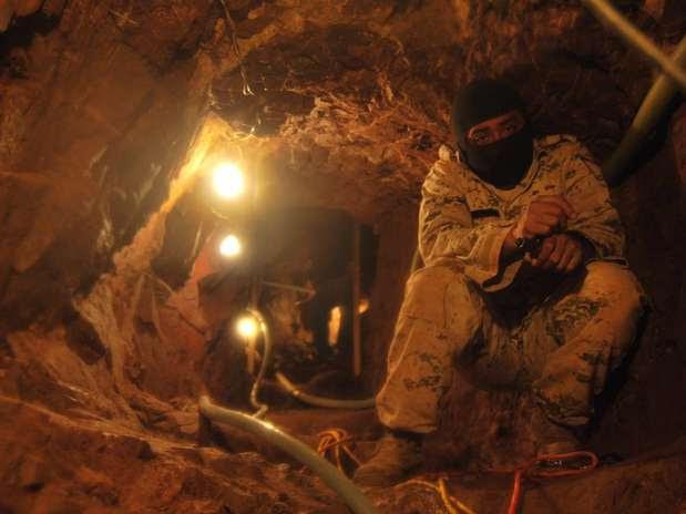 Forças militares chegaram ao local depois de receberem uma denúncia anônima Foto: EFE