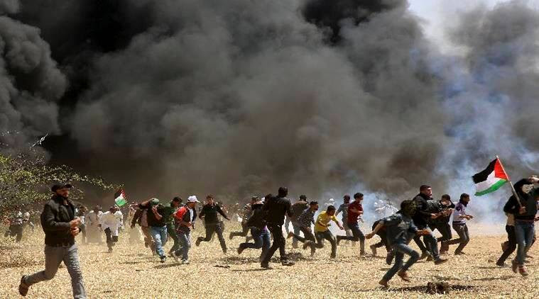 israel, gaza strip, palestine protest, israel palestine border, israeli forces, open fire, world news, middle east news, indian express