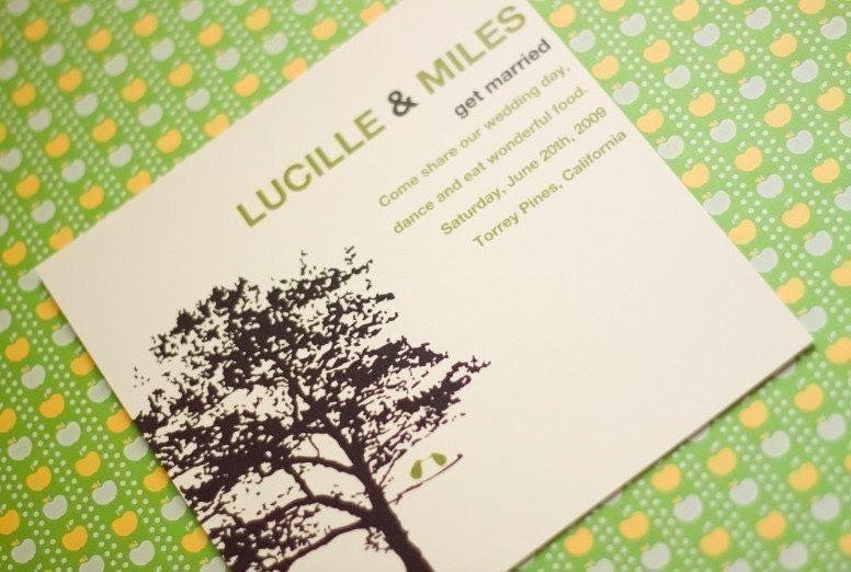 Two Birds One Tree -  Wedding Invitation