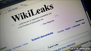 The homepage of the WikiLeaks.org website is seen on a computer after leaked classified military documents were posted to it July 26, 2010