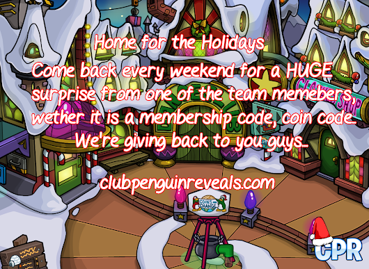 Club Penguin Reveals - Home for the Holidays 2014