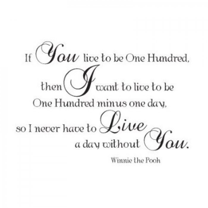 Winnie The Pooh Quote If You Live To Be One Hundred 36x22 0328i43tc52