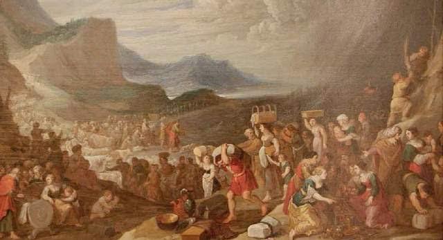 La nación de Moisés cruzó el Mar Rojo (sobre estas líneas, pintura) gracias a las extraordinarias capacidades de Yahvé, que hizo que se abrieran las aguas.