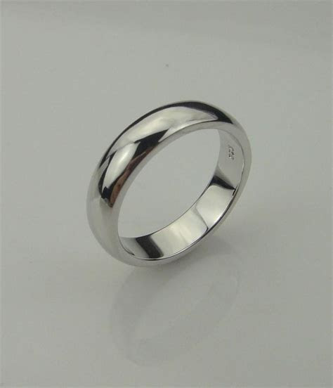 Real Pure Solid 925 Sterling Silver Wedding Band Rings For