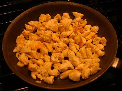 Chicken Cooked for Jambalya