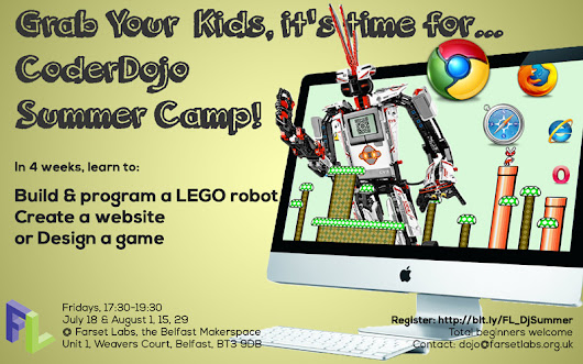 Get Kids Coding, Designing and Building This Summer with Our Special Four-Week CoderDojo Course