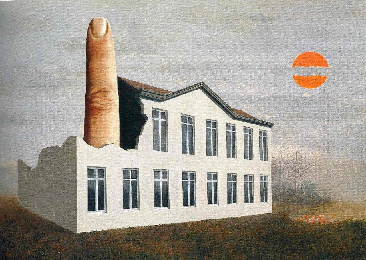 The revealing of the present, 1936 Rene Magritte