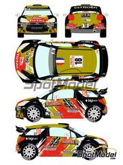 Racing Decals 43: Calcas escala 1/24 - Citroen DS3 WRC BRM Nº 18 - Sébastien Chardonnet (FR) + Thibault de la Haye (FR) - Rally de Montecarlo 2015 - para kit de Heller 80758, 80757