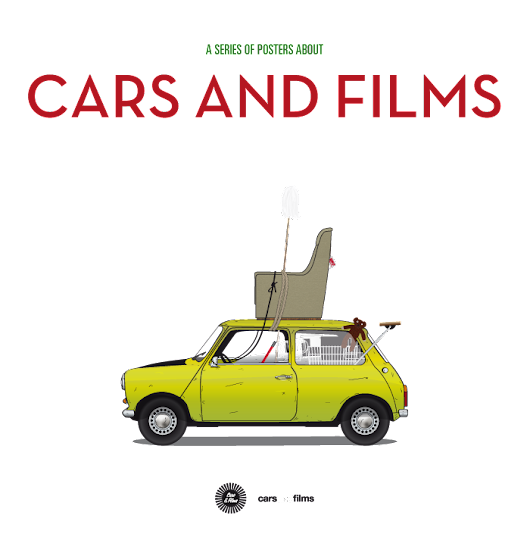 Cars And Films// A series of posters about cars and films. Filmography of Iconic Cars