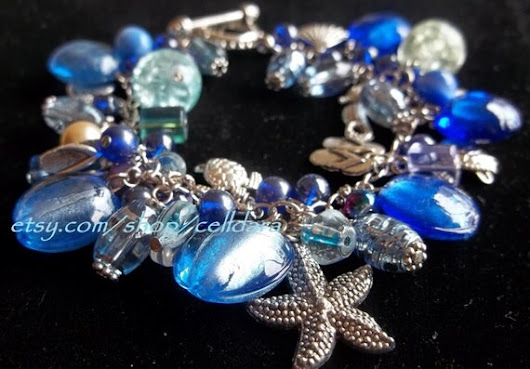 Beauty of the Ocean Charm Bracelet by CellDara on Etsy