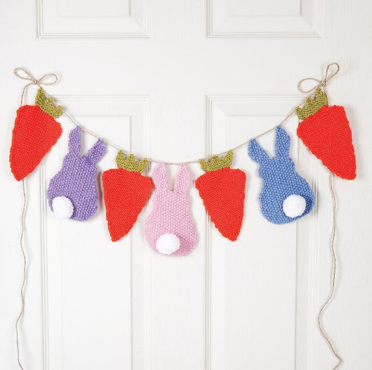 Bunny Bunting Knitting pattern by Kim Dickinson