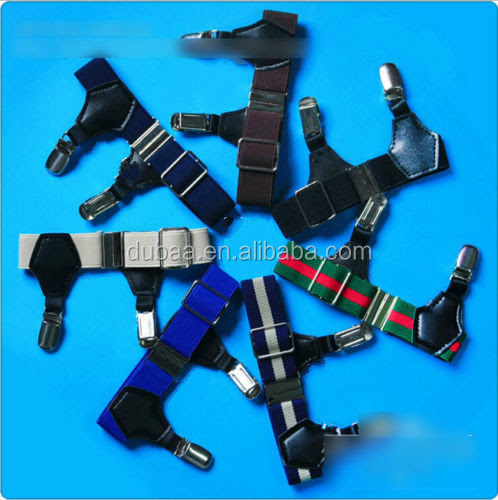 New 1 Pair Suspender Double Grip Clip Men's Sock Garters Adjustable Elastic, View sock garter, Dubaa Product Details from Yiwu Dubaa Trading Inc. on Alibaba.com