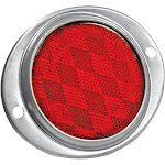 Reese Towpower 86011 Red Aluminum Oval Reflector