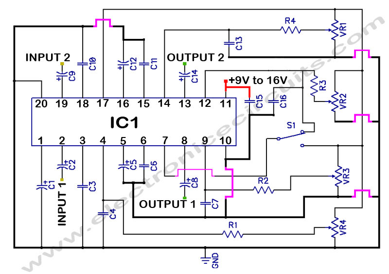 lm1036 with preamp schematic diagram