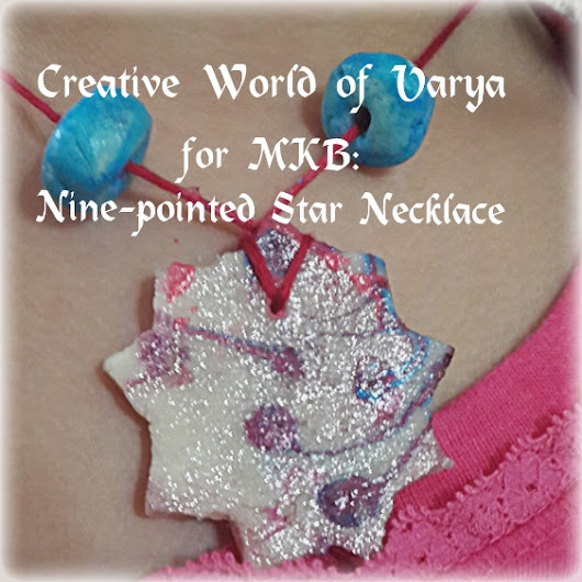 Naw-Ruz Craft: Nine-pointed Star Necklace {Creative World of Varya} - Multicultural Kid Blogs