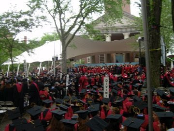 Harvard Commencement seating