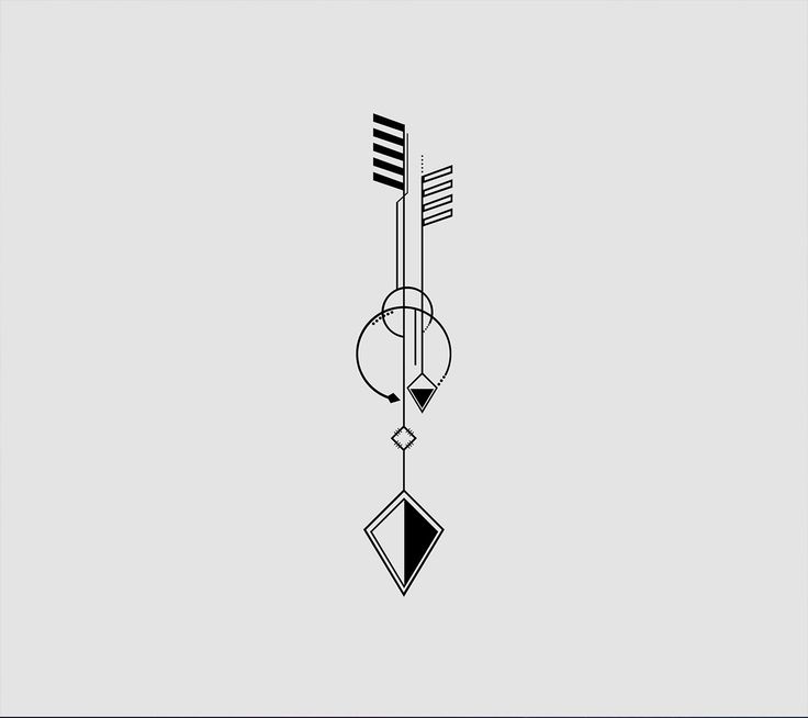 geometric tattoo arrow tattoo idea