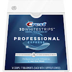 Crest 3D Whitestrips Professional Express Teeth Whitening Kit, 7 Treatments