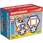Magformers XL Cruisers 30 Piece Magnetic Car Set Blue & Orange Set