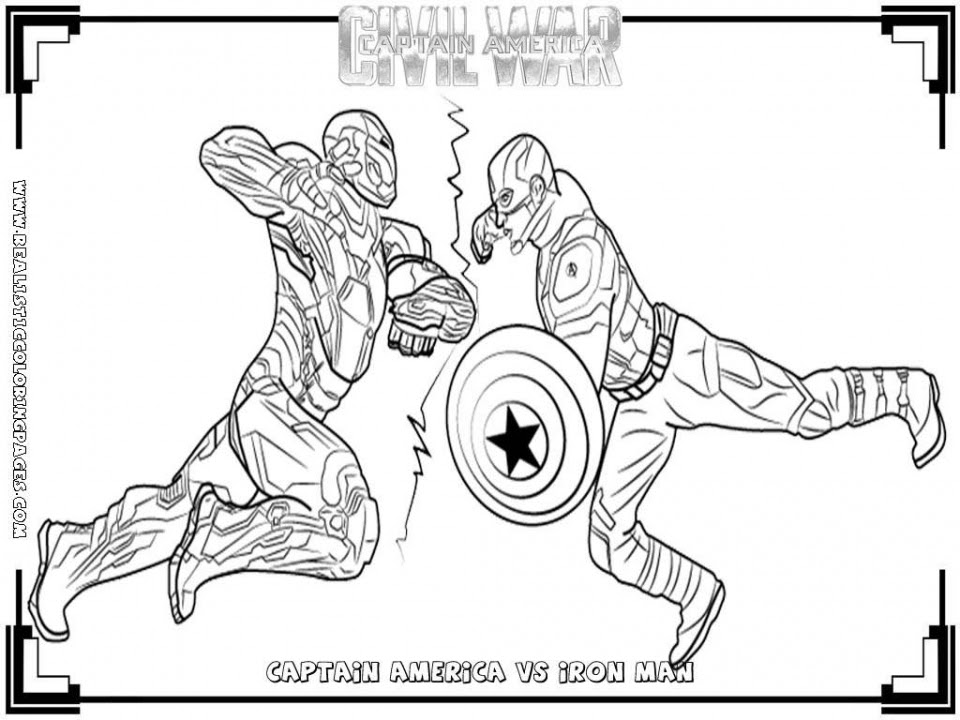 20+ Free Printable Captain America Coloring Pages ...