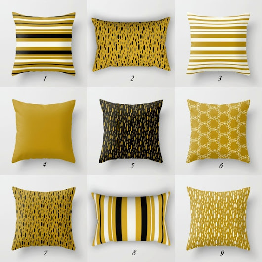 Mustard Pillows Mustard Yellow Pillow Covers by DesignbyJuliaBars