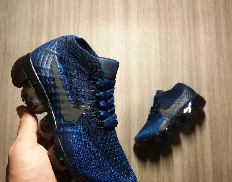 MURAH Sepatu Anak - Nike Air Vapormax Flyknit Navy - PRM a1599f7ce0